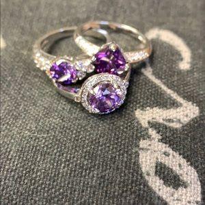 Purple fashion rings